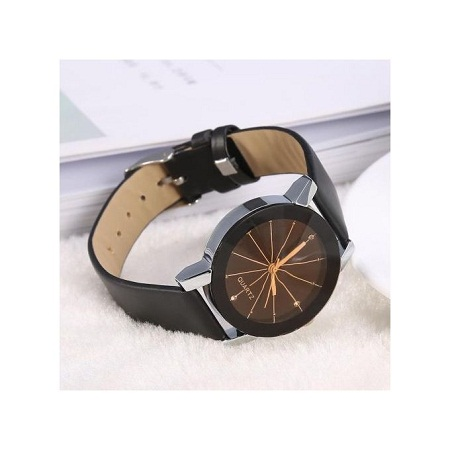 Fashion Ladies Fashionable Quartz Wristwatch Analog Round PU Band.