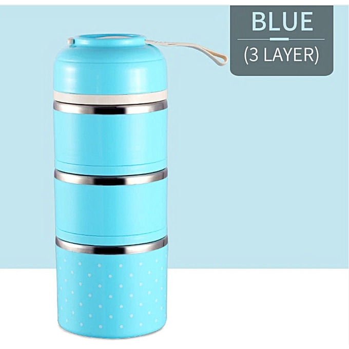 Thermal Lunch Box Stainless Steel Food Storage Container -Blue