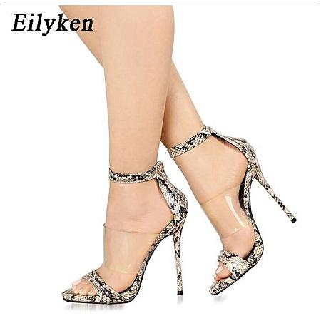Ladies Thin High Heel Sandals - camouflage