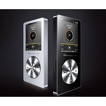 X05 mp3 mp4 player lossless music metal release sports screen card player-Black