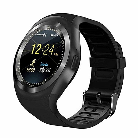 Y1 Smart Watch Phone Support SIM TF Card Bluetooth Waterproof Ring Round Sporty Watches With Whats App And Facebook For IOS Android