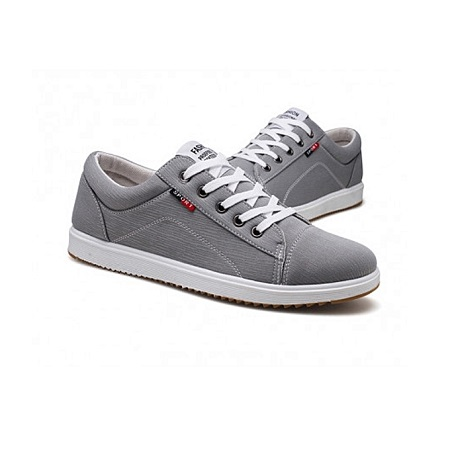 Grey Lakeshi Shoes With White Sole.