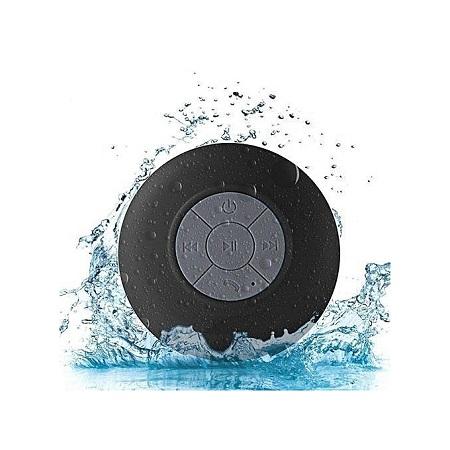 BTS06 Waterproof Large Sucker Bluetooth Speaker Black.