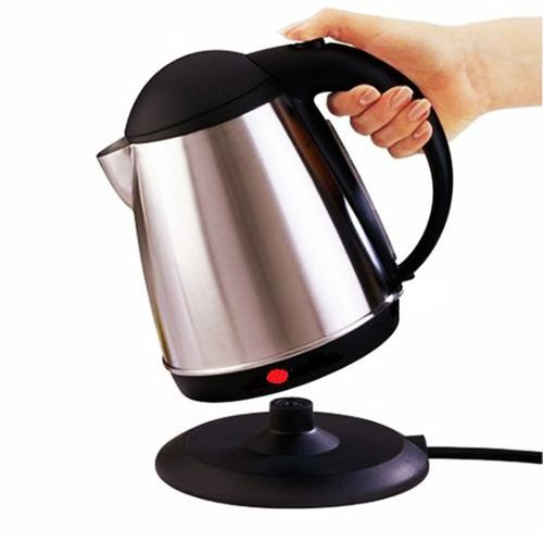AILYONS Silver & Black Cordless Stainless Steel Electric Kettle