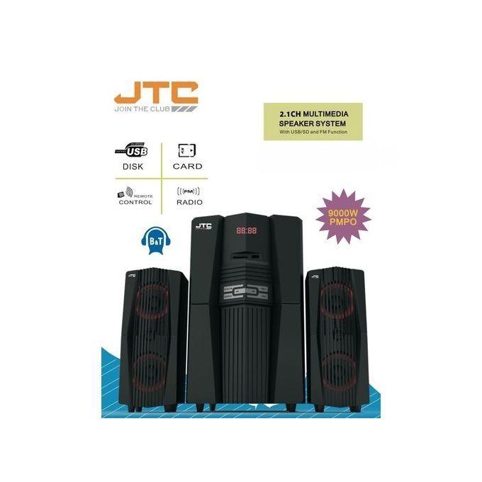 JTC 2.1CH Multimedia Speaker System - Bluetooth 9000W
