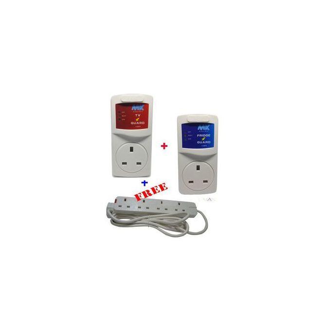 Mk Electric TV Guard + FRIDGE Guard + A FREE 4 Way Extention