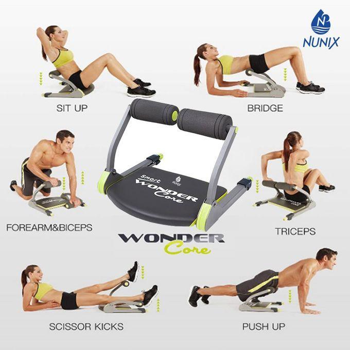 Nunix Wonder Core Smart Fitness Machine-Black