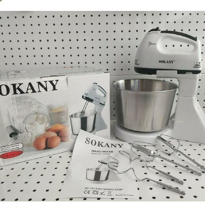 Sokany Hand Mixer + Stand With Bowl