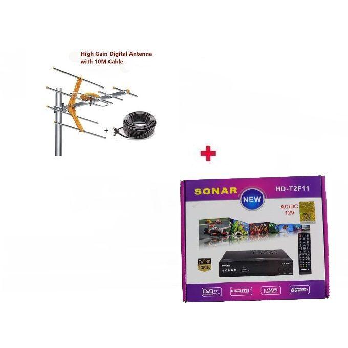 Sonar Free To Air Digital Decoder & FREE Digital Aerial