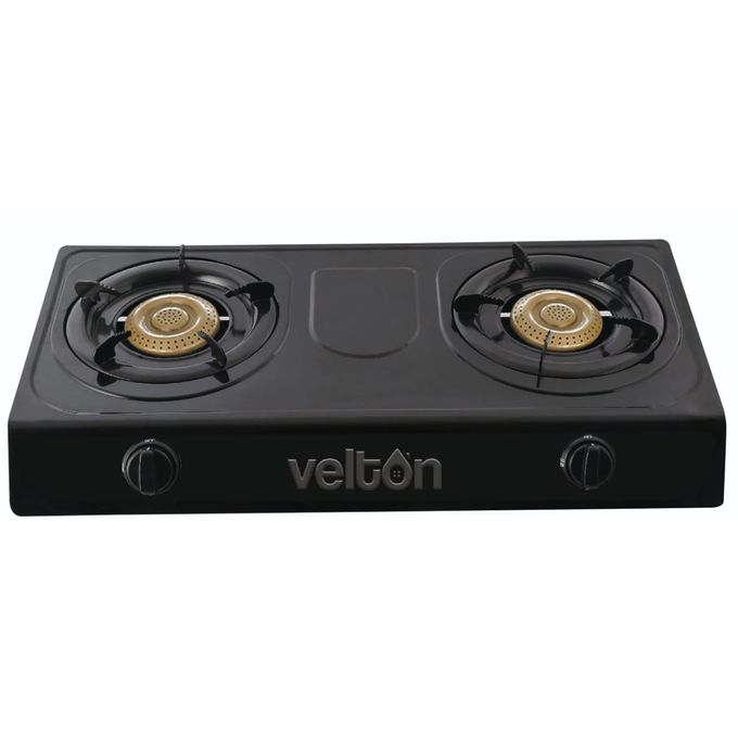 VELTON 2 Burner Gas Stove/ Gas Cooker - Stainless Steel