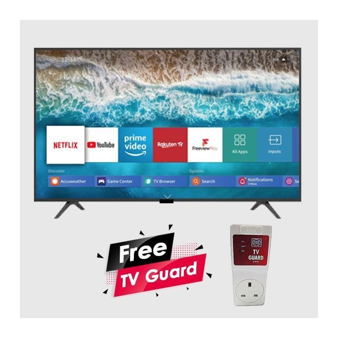 Vitron 43 Inches FULL HD Smart Android TV Youtube Netflix+ Free TV Guard
