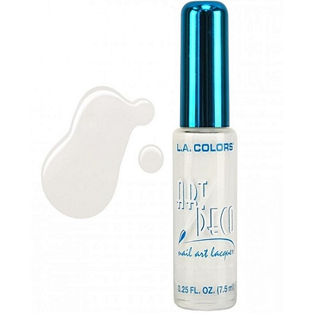 L.A. Colors Nail Art Deco - White