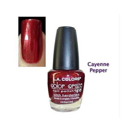 L.A. Colors Color Craze Nail Polish - Cayenne Pepper