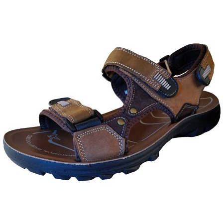 Cacatua Men Leather Sandals/6528 (BROWN)