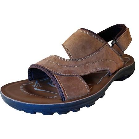 Cacatua Men Leather Sandals/7199 (BROWN)
