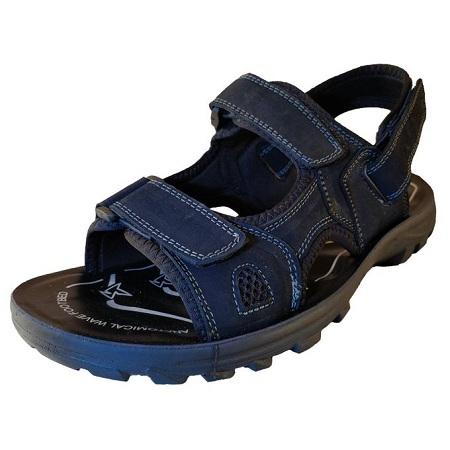 Cacatua Men Leather Sandals/8119 (BLACK)