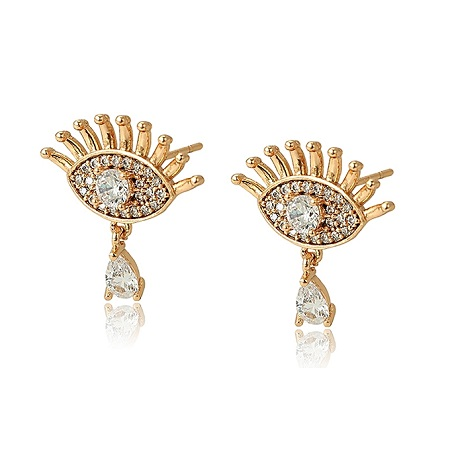 CarJay Jewels Gold Coated Earring Studs