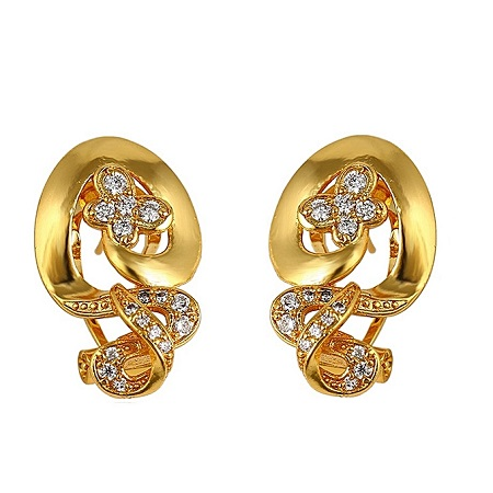 CarJay Jewels Gold Coated Earring hoops