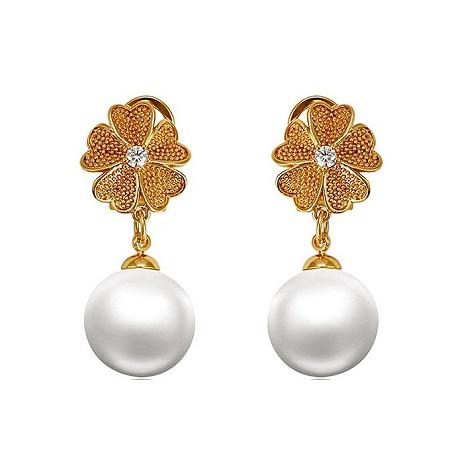 CarJay Jewels Gold Coated Pearl Earrings