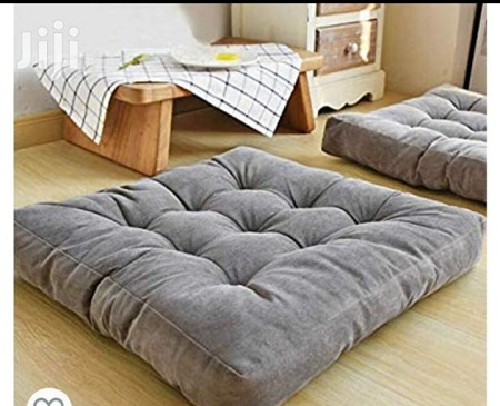 Generic Grey Square Floor Pillow