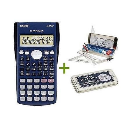 HIGH QUALITY Casio Scientific Calculator Fx82ms Plus Free Geometrical Set