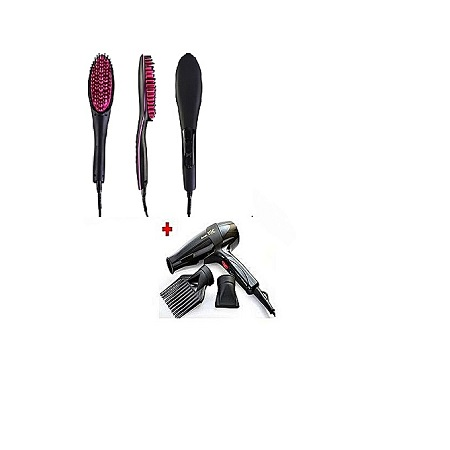 Ceriotti Hair Straightener And Blowdry - Pink And Black