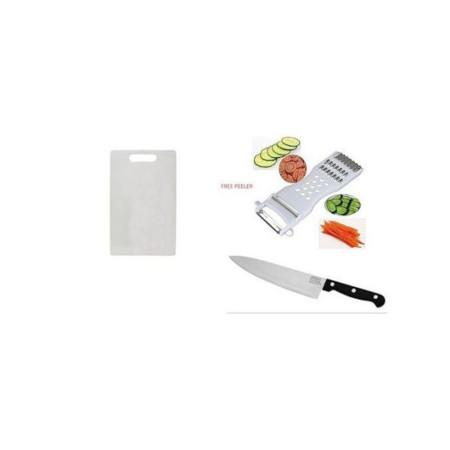 Chopping Board + Kitchen Knife + FREE Peeler
