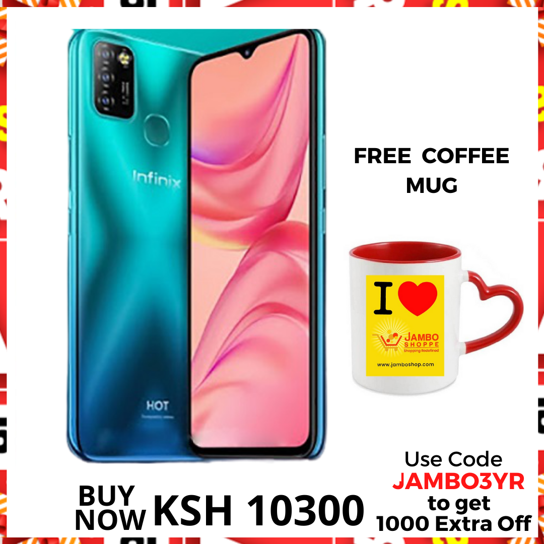Infinix Hot 10 Lite: 6.6inches - Get 1000 Extra Off Code JAMBO3YR