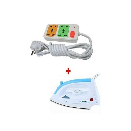 Scarlet Steam Iron Box With Free 2-way Extension Cable