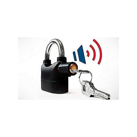 Kin Bar Kin Bar Alarm Padlock Lock - Black