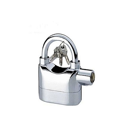 Kin Bar Alarm Security Padlock - Silver