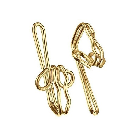 Metal Curtain Hooks - Box Of 100pcs - (Golden)