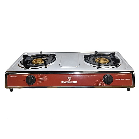 Rashnik RN-1509 - 2 Burner Gas Stove Stainless Steel
