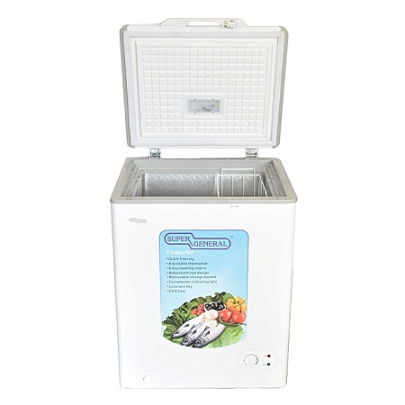 Super General SGF-110H - Chest Freezer - 100 Liters -3.5 Cu.Ft - White