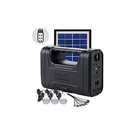 GD lite 8017 Plus Solar Lighting System – Black