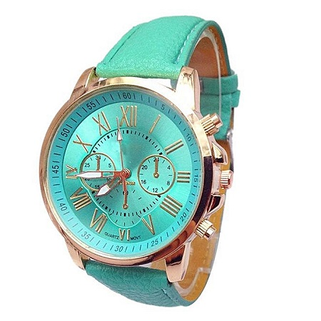 Generic Generic Unisex Analogue Quartz Watch Leather Belt -Mint