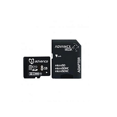 Advance 8GB - Memory Card + Adapter - Black