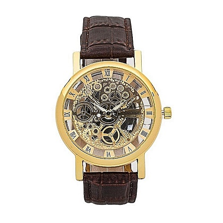 Generic Brown Pu Leather Watch