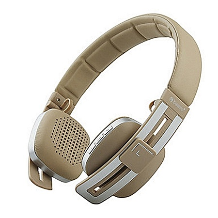 Beevo V8 Wireless Bluetooth Stereo Over Ear Wired Headphones - Gold