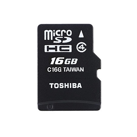 Toshiba Memory Card - 16GB - Black