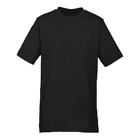 DEALFIT Black Plain T-Shirt