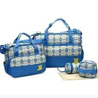 5 piece set Multi functional Baby / Diaper Bag - Brown