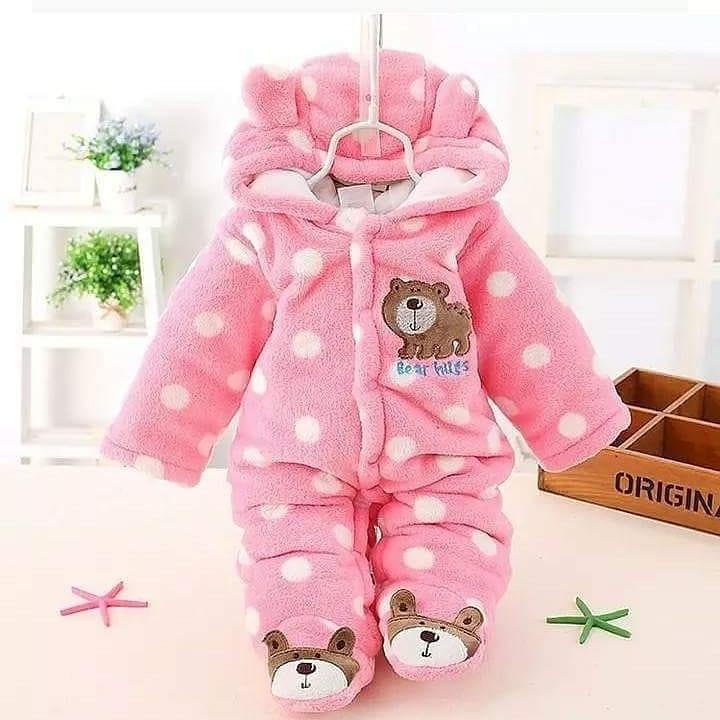 Pink Warm baby romper