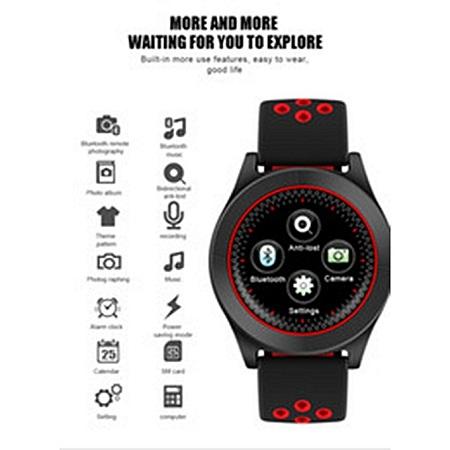 Generic SmartWatch Phone F8 Fitness Tracker - Black/Red
