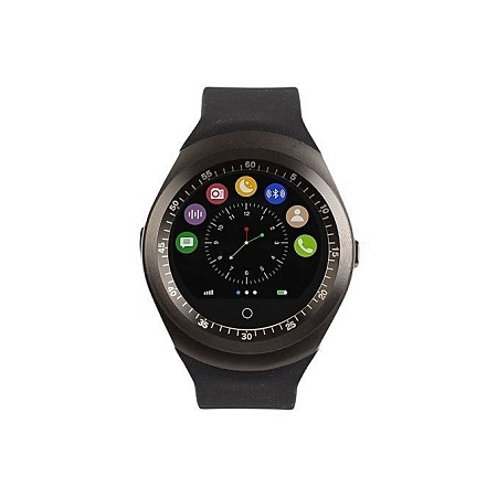 Generic Y1 Sporty Smart Phone Watch - MTK6261- Bluetooth 3.0 280mAh - Black