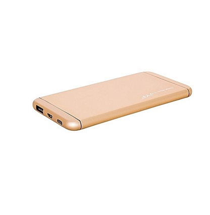 Generic Power Bank 10,000 mAh Super Slim Design With Polymer Battery - Gold
