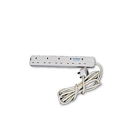 Generic 5 Way Power Extension-white