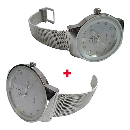 Classic Women's Men's Wrist Watch Steel Strap Quartz Casual Watches