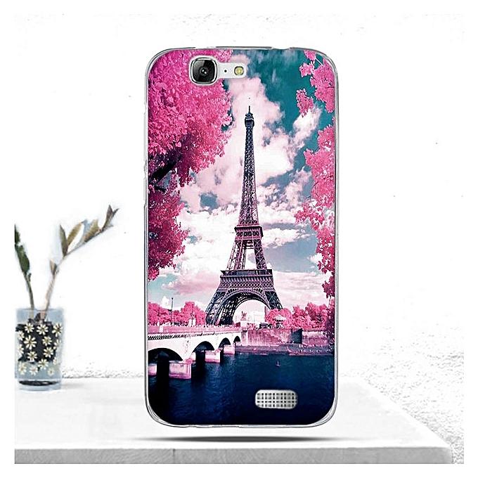 Huawei Ascend G7 Clear Soft TPU Case Multi color