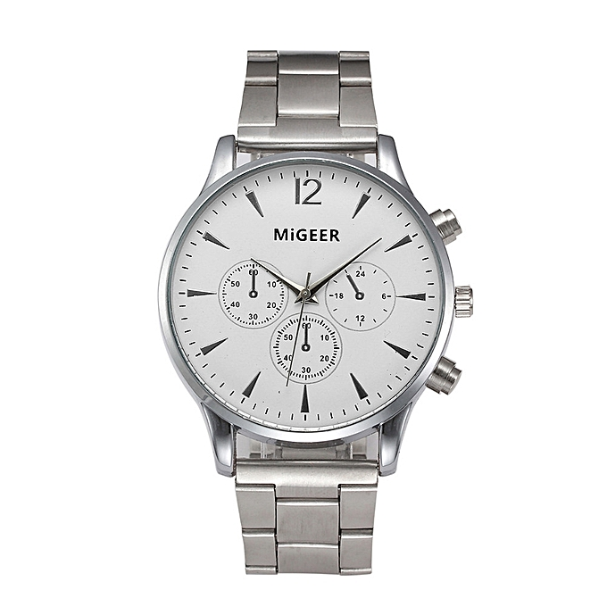 Migeer Men's Watch Silver